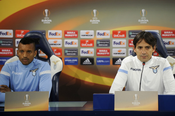 SS Lazio Training Session And Press Conference [event,news conference,world,simone inzaghi,luis nani,rome,italy,ss lazio,ss lazio training session and press conference,press conference]