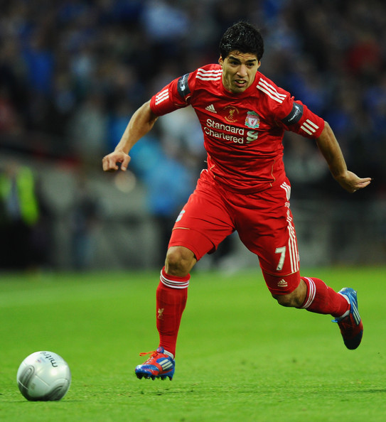 Luis suarez of liverpool in action during the carling cup all about liverpool fc video - Suarez liverpool wallpaper ...