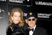 Natalia Vodianova and Andrea Panconesi attend LuisaViaRoma and Naked Heart Foundation Dinner on January 09, 2019 in Florence, Italy.