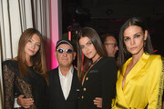 (L-R) Lorena Rae, Andrea Panconesi, Kamila Hansen, and Sofia Resing attend the LuisaViaRoma Opening Party @ Spring on November 16, 2018 in New York City.