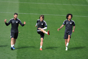 Luka Modric Real Madrid CF Training and Press Conference