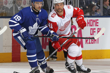 Luke Glendening Detroit Red WIngs vs. Toronto Maple Leafs