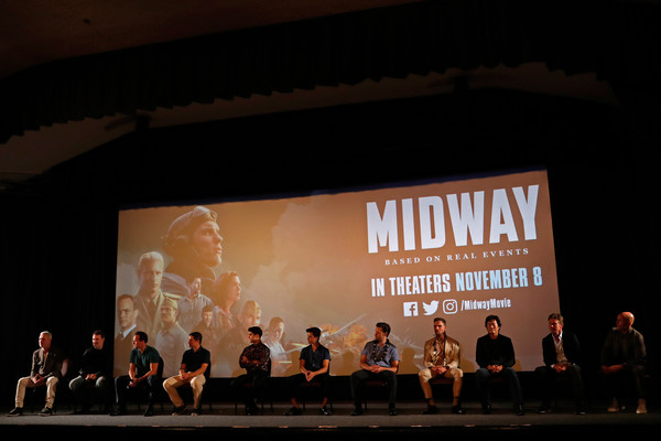 'Midway' Special Screening - Joint Navy Base Pearl Harbor - Hickam [stage,event,theatre,auditorium,heater,performance,design,performance art,performing arts,projection screen,navy base,cast,joint base pearl harbor-hickam,midway special screening - joint,midway,hawaii,honolulu,screening,pearl harbor]