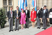 Prince Louis, Prince Felix, Grand Duchess Maria Teresa, Grand Duke Henri, Princess Stephanie, Prince Guillome and Prince Sebastie of Luxembourg attend the Te Deum for National Day on June 23, 2014 in Luxembourg, Luxembourg.