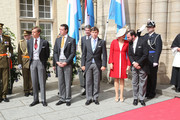 Prince Louis, Prince Felix, Prince Sebastien, Princess Stephanie and Prince Guillome of Luxembourg attend the Te Deum for National Day on June 23, 2014 in Luxembourg, Luxembourg.