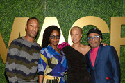 (L-R) Corey Hawkins, Teyonah Parris, Tonya Lee and Spike Lee attend the MACRO Pre-Oscar Party 2019 at Casita Hollywood on February 21, 2019 in Los Angeles, California.