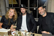 (L-R) Natalie Joos, Maor Cohen and Barry Bayat attend MAOR Private Dinner at Chateau Marmont on June 6, 2018 in Los Angeles, California.
