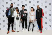 (L/R) Winston Duke, Misa Hylton, Song Weilong, Mayuko Kawakita and Marracash attend the MCM Fashion Show Spring/Summer 2019 during the 94th Pitti Immagine Uomo on June 13, 2018 in Florence, Italy.