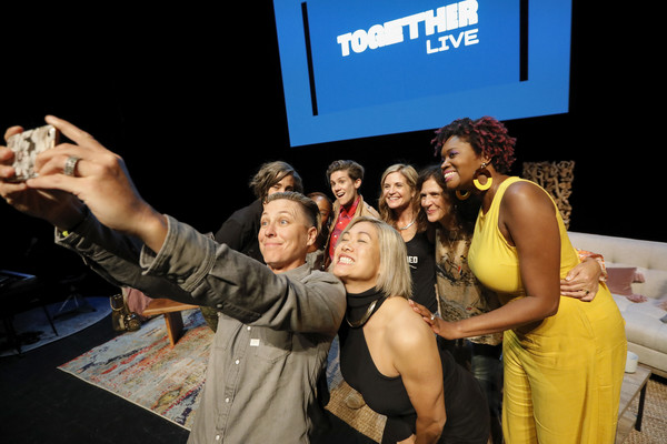 Together Live - Houston [yellow,event,fun,performance,stage,photography,party,crowd,selfie,stage,houston,abby wambach,amena brown,milck,cameron esposito,nkosi mabaso,glennon doyle,jennifer rudolph walsh]