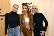 (L-R) Sara Foster, Kate Beckinsale, and MIRROR Founder & CEO Brynn Putnam attend MIRROR Westfield Century City grand opening event at Westfield Century City on November 19, 2019 in Century City, California.