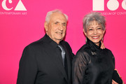 Architect Frank Gehry (L) and Berta Isabel Aguilera at the MOCA Gala 2017 honoring Jeff Koons at The Geffen Contemporary at MOCA on April 29, 2017 in Los Angeles, California.
