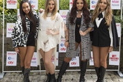 Leigh-Anne Pinnock, Perrie Edwards, Jesy Nelson and Jade Thirlwall of Little Mix pose for the media ahead of the MTV Crashes Plymouth concert at Plymouth Hoe on July 22, 2014 in Plymouth, England.