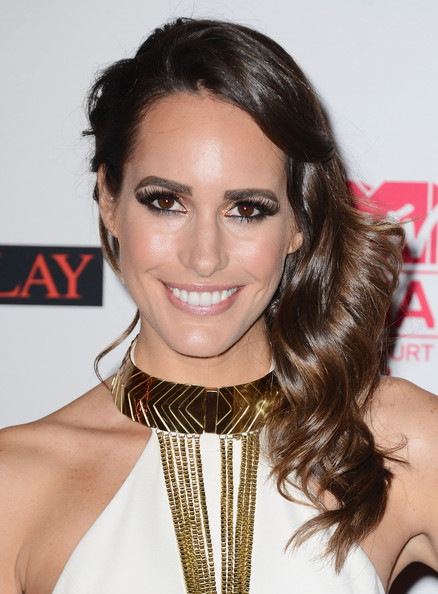 Presenter Louise Roe attends the MTV EMA's 2012 at Festhalle Frankfurt on November 11, 2012 in Frankfurt am Main, Germany.