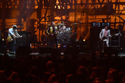 Matthew Followill, Caleb Followill, Nathan Followill and Jared Followill of Kings of Leon perform on stage at the MTV Europe Music Awards 2016 on November 6, 2016 in Rotterdam, Netherlands.
