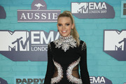 Becca Dudley attends the MTV EMAs 2017 held at The SSE Arena, Wembley on November 12, 2017 in London, England.