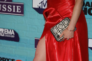 Emma Miller, fashion detail, attends the MTV EMAs 2017 held at The SSE Arena, Wembley on November 12, 2017 in London, England.