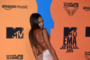 Joan Smalls attends the MTV EMAs 2019 at FIBES Conference and Exhibition Centre on November 03, 2019 in Seville, Spain.