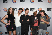 """(L-R) Shelley Hennig, Tyler Posey, Cody Christian, Khylin Rhambo and Dylan Sprayberry arrive at MTV's """"Teen Wolf"""" and """"Sweet/Vicious"""" Premiere Event on November 14, 2016 in Los Angeles, California."""