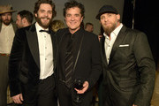 (L-R) Thomas Rhett, Scott Borchetta and Brantley Gilbert attend Big Machine Label Group celebration of The 53rd Annual CMA Awards in Nashville at The Bell Tower on November 13, 2019 in Nashville, Tennessee.