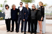 "(2nd L-R) Doug Mitchell, Nicholas Hoult, Tom Hardy, George Miller and Charlize Theron attend a photocall for ""Mad Max: Fury Road"" during the 68th annual Cannes Film Festival on May 14, 2015 in Cannes, France."