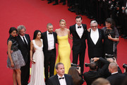 "Zoe Kravitz, Tom Hardy,Charlize Theron,Nicholas Hoult and Georges Miller attend Premiere of ""Mad Max: Fury Road"" during the 68th annual Cannes Film Festival on May 14, 2015 in Cannes, France."