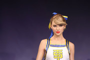 A wax figure of Taylor Swift is unveiled at Madame Tussauds on February 10, 2015 in London, England.