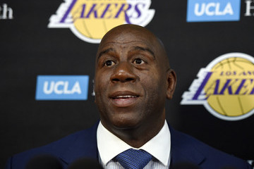 Magic Johnson Los Angeles Lakers Media Day