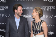 "Actors Bradley Cooper and Jennifer Lawrence attend a screening of ""Serena"" hosted by Magnolia Pictures and The Cinema Society with Dior Beauty on March 21, 2015 in New York City."