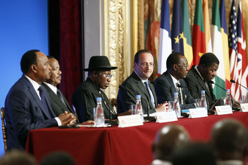 Mahamadou Issoufou Paris Summit for safety in Nigeria  AT  The Elysee Palace