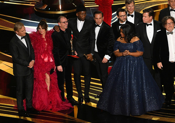 91st Annual Academy Awards - Show [green book,event,formal wear,suit,tradition,crew,cast,jim burke,charles b. wessler,brian currie,octavia spencer,linda cardellini,academy awards,show]