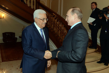 Mahmoud Abbas Vladimir Putin Meets with Mahmoud Abbas