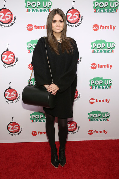 """ABC's """"25 Days Of Christmas"""" Celebration [25 days of christmas,clothing,carpet,footwear,joint,tights,leg,outerwear,red carpet,premiere,flooring,maia mitchell,cucina,new york city,rockerfellar center,abc,celebration]"""