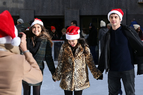 "ABC's ""25 Days Of Christmas"" Celebration [25 days of christmas,people,knit cap,winter,beanie,santa claus,christmas,headgear,event,fun,recreation,actors,david lambert,carrie ramirez,maia mitchell,cucina,new york city,rockerfellar center,abc,celebration]"