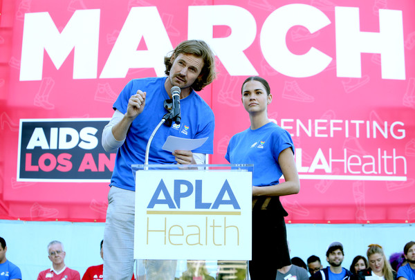 AIDS Walk Los Angeles 2019 [stage equipment,technology,event,recreation,endurance sports,world,josh pence,maia mitchell,stage,los angeles,california,l,aids walk]
