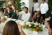 Josh Beckerman, Kelly Framel, Hassan Pierre, and Shala Monroque attend Maison-de-Mode.com x Paul Kasmin Gallery Luncheon at Penthouse at the Faena Hotel Miami Beach on December 1, 2015 in Miami Beach, Florida.