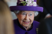 Queen Elizabeth II greets guests during a visit to the International Maritime Organization (IMO) to mark the 70th anniversary of its formation on March 6, 2018 in London, England.