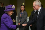 Queen Elizabeth II L) meets Captain Paddy McKnight (R), he spent 37 years in the Royal Navy, during which time he Commanded three warships and was second-in-command of The Royal Yacht Britannia during a visit to the International Maritime Organization (IMO) to mark the 70th anniversary of its formation on March 6, 2018 in London, England.