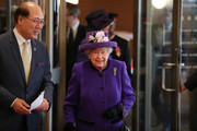 Queen Elizabeth II is greeted by Secretary-General of the International Maritime Organization (IMO) Kitack Lim (L) as she arrives for a visit to the International Maritime Organization (IMO) to mark the 70th anniversary of its formation on March 6, 2018 in London, England.