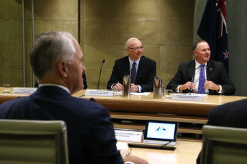 Malcolm Turnbul New Zealand Prime Minister John Key Visits Australia