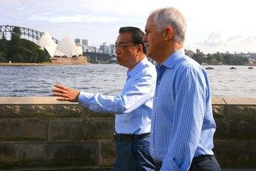Malcolm Turnbull China's Premier Li Keqiang Is Seen on an Official Visit to Australia