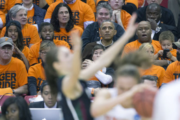 Malia Obama Obama Attends First Round of the Women's NCAA Tournament