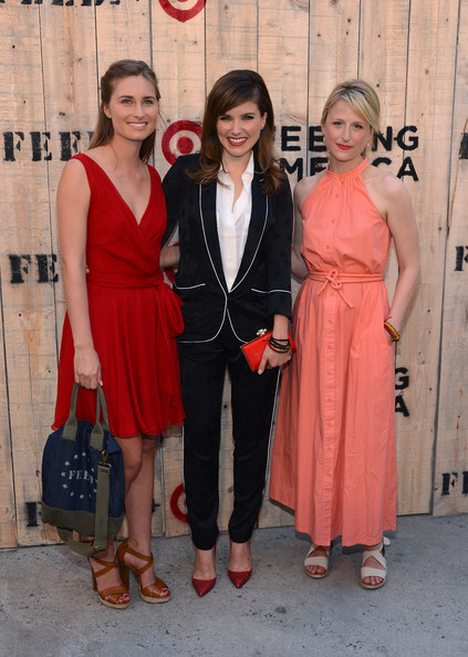 Mamie Gummer (L-R) Lauren Bush Lauren, Actress Sophia Bush, and Mamie Gummer attend FEED USA + Target launch event on June 19, 2013 in New York City.