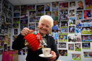 Rose pours a cup of tea in the photographers room prior to the Barclays Premier League match between Manchester City and Sunderland at Etihad Stadium on February 12, 2014 in Manchester, England.