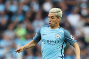 Samir Nasri of Manchester City in action  during the Premier League match between Manchester City and West Ham United at Etihad Stadium on August 28, 2016 in Manchester, England.