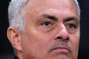 Jose Mourinho, Manager of Manchester United looks on prior to the Group H match of the UEFA Champions League between Manchester United and Juventus at Old Trafford on October 23, 2018 in Manchester, United Kingdom.