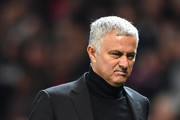 Jose Mourinho, Manager of Manchester United reacts as he walks off at half time during the Group H match of the UEFA Champions League between Manchester United and Juventus at Old Trafford on October 23, 2018 in Manchester, United Kingdom.