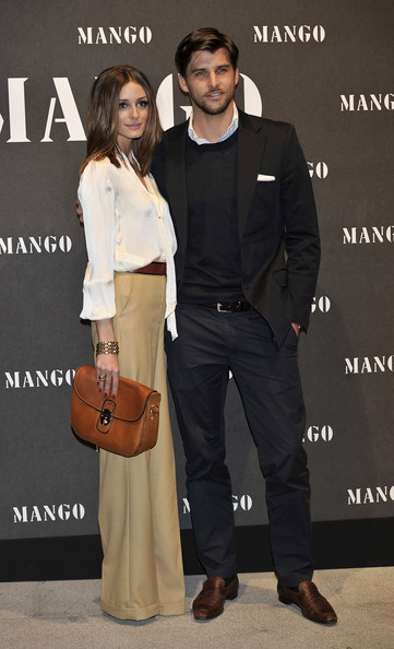 Olivia Palermo and her boyfriend Johannes Huebl attend Mango new collection at the Palacio de Cibeles on November 16, 2010 in Madrid, Spain.