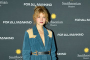 """Actress Sarah Jones attends  the Washington DC premiere of """"For All Mankind"""" at the Smithsonian National Air and Space Museum on October 27, 2019 in Washington, DC."""