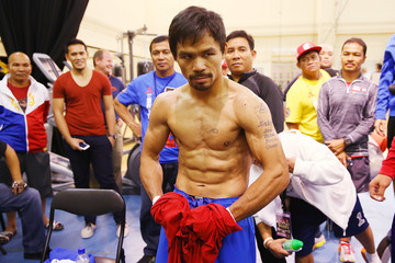 Manny Pacquiao Chris Algieri v Manny Pacquiao Workouts
