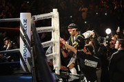 Manny Pacquiao enters the ring before fighting Adrien Broner in the WBA welterweight championship at MGM Grand Garden Arena on January 19, 2019 in Las Vegas, Nevada.